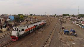 Ferrocarril en Surabaya Indonesia foto de archivo libre de regalías