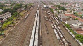 Ferrocarril en Surabaya Indonesia metrajes