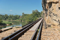 Ferrocarril en Tailandia Imagen de archivo