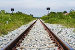 Ferrocarril en Tailandia Imagen de archivo libre de regalías