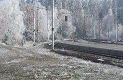Ferrocarril en Tatras Foto de archivo libre de regalías
