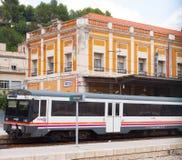 Ferrocarril en Tortosa, España Imagenes de archivo