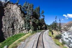 Ferrocarril en Valle Sagrado foto de archivo