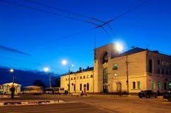 Ferrocarril en Veliky Novgorod Imagen de archivo