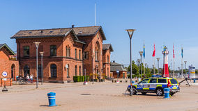 Ferrocarril en Ystad Foto de archivo