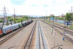Ferrocarril Estación de Zlobino krasnoyarsk foto de archivo