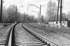 Ferrocarril - ferrocarril Fotografía de archivo
