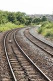 Ferrocarril/ferrocarril BRITÁNICOS Imágenes de archivo libres de regalías