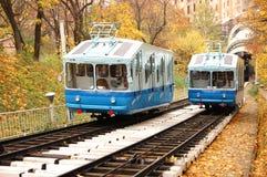 Ferrocarril funicular Fotos de archivo