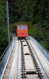 Ferrocarril funicular Imagen de archivo libre de regalías