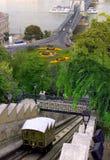 Ferrocarril funicular del palacio y T Imagen de archivo libre de regalías