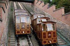 Ferrocarril funicular en Dudapest Fotografía de archivo
