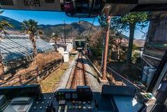 Ferrocarril funicular en Hakone Imagen de archivo