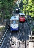 Ferrocarril funicular Lugano Suiza Imagen de archivo libre de regalías