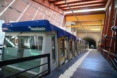 Ferrocarril funicular - Nápoles, Italia Imagen de archivo libre de regalías