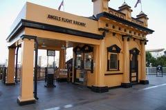 Ferrocarril histórico del vuelo de los ángeles en Los Ángeles Fotografía de archivo libre de regalías