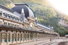 Ferrocarril internacional de Canfranc Fotografía de archivo