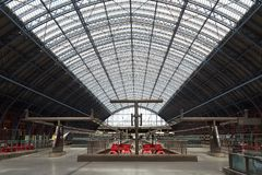 Ferrocarril internacional de Londres St Pancras Foto de archivo libre de regalías