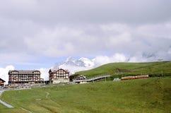 Ferrocarril a Jungrau Fotos de archivo