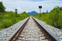 Ferrocarril a la montaña hermosa Fotografía de archivo libre de regalías