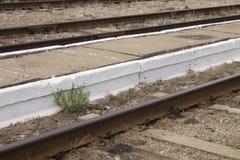 Ferrocarril letón en Gulbene Imágenes de archivo libres de regalías