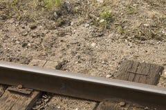 Ferrocarril letón en Gulbene Fotos de archivo libres de regalías