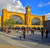 Ferrocarril Londres de Cross de rey Imagen de archivo libre de regalías