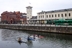 Ferrocarril, Malmö, Suecia Foto de archivo libre de regalías