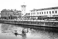 Ferrocarril, Malmö, Suecia Fotografía de archivo libre de regalías