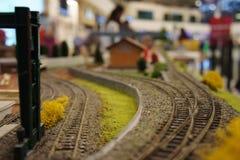 Ferrocarril miniatura imagen de archivo