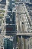 Ferrocarril: Mirada abajo de torre del NC Fotografía de archivo