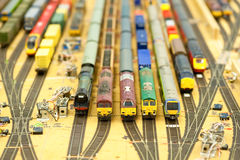 Ferrocarril modelo Imagenes de archivo