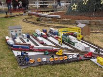 Ferrocarril modelo realista Imagenes de archivo
