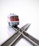 Ferrocarril modelo (vista delantera) Fotos de archivo