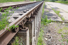 Ferrocarril ¡Muévase adelante! Fotografía de archivo