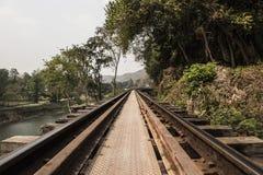 Ferrocarril muerto Fotografía de archivo libre de regalías