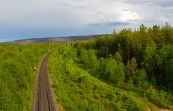 Ferrocarril norteño Imagen de archivo libre de regalías