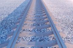 Ferrocarril o ferrocarril, ferrocarril de acero para los trenes Viaje del ferrocarril, turismo ferroviario Concepto del transport stock de ilustración