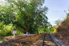 Ferrocarril obsoleto en Sri Lanka Foto de archivo libre de regalías
