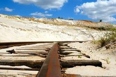 Ferrocarril oxidado viejo Imagen de archivo