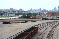 Ferrocarril pacífico canadiense en Milwaukee foto de archivo libre de regalías