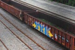 Ferrocarril pacífico canadiense en Milwaukee fotos de archivo
