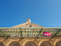 Ferrocarril París de Gare París-Est Foto de archivo