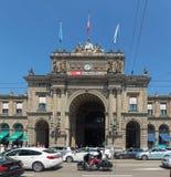 Ferrocarril principal de Zurich Fotos de archivo libres de regalías