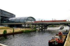 Ferrocarril principal en Berlín Fotografía de archivo libre de regalías