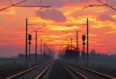 Ferrocarril, raolroad Fotografía de archivo libre de regalías