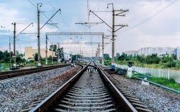 Ferrocarril ruso Foto de archivo libre de regalías