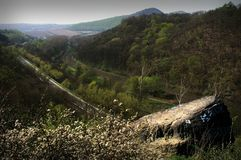 Ferrocarril septentrional de Bohemia Fotografía de archivo