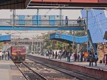 Ferrocarril suburbano indio Foto de archivo