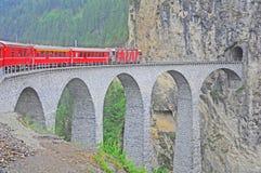 Ferrocarril suizo. Foto de archivo